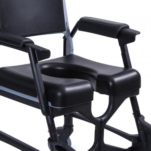 Assise de confort 50 mm avec ouverture, pour siège de douche/toilette BathMobile® 52848